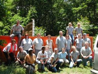 CAC AmeriCorps Members & Volunteers after a cleanup, 2002-2003