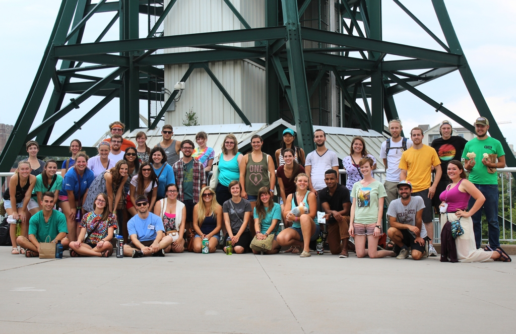 Class of 2015-2016 at the base of the Sunsphere in Downtown Knoxville.